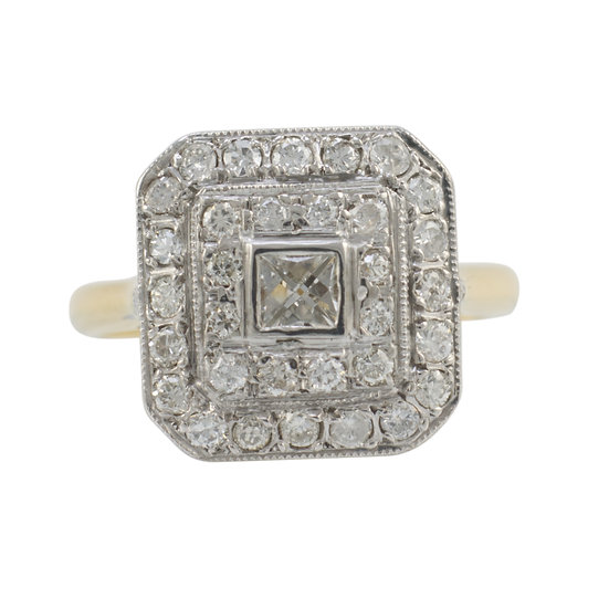 18ct Diamond Set Tablet Ring - SOLD
