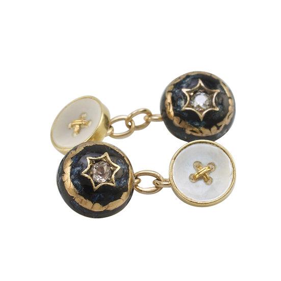 Antique Gold Diamond Set Cufflinks
