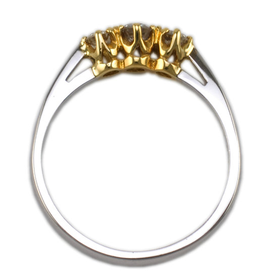 18ct Trilogy Ring - SOLD