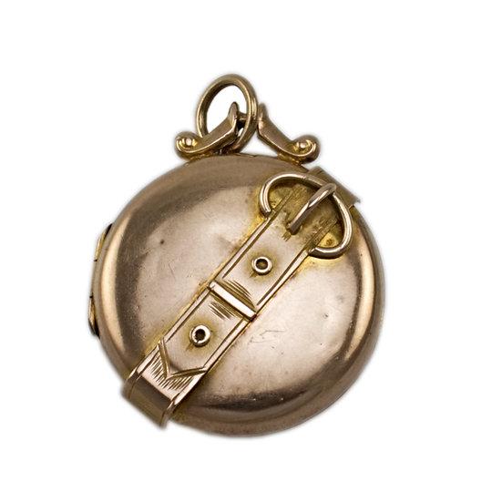 9ct Rose Gold Buckle Locket - SOLD