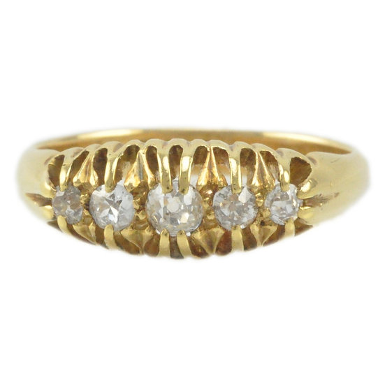 18ct Diamond five stone - SOLD