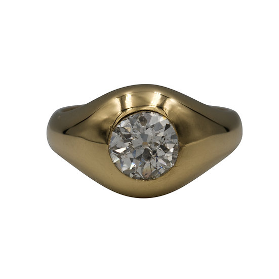 1.42ct Antique European Cut Diamond Ring