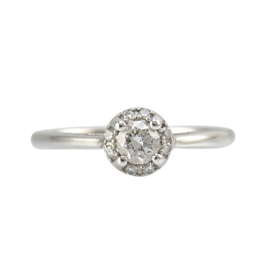 18ct White Gold Diamond Cluster - SOLD