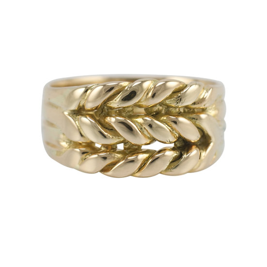 Victorian 18ct Braided Gold Ring - RESERVED