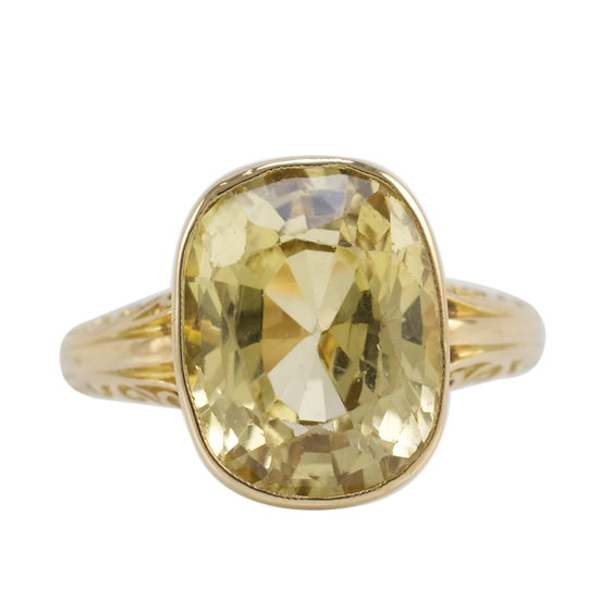 7.4ct Yellow Sapphire Ring - SOLD