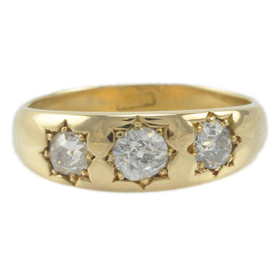18ct Gold Diamond gypsy ring