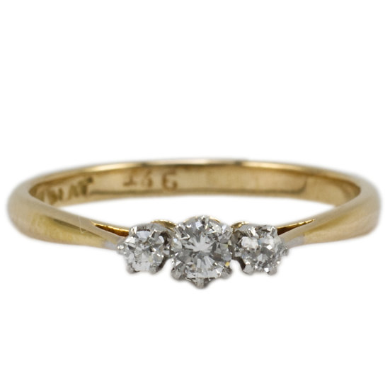 Traditional Diamond Trilogy Ring - SOLD