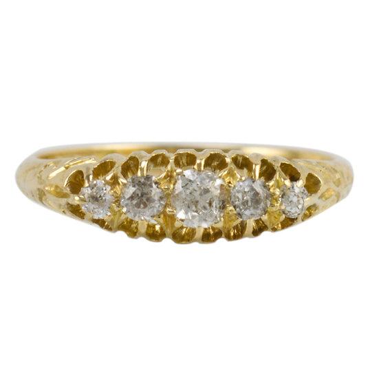 Victorian Old Cut Diamond Ring