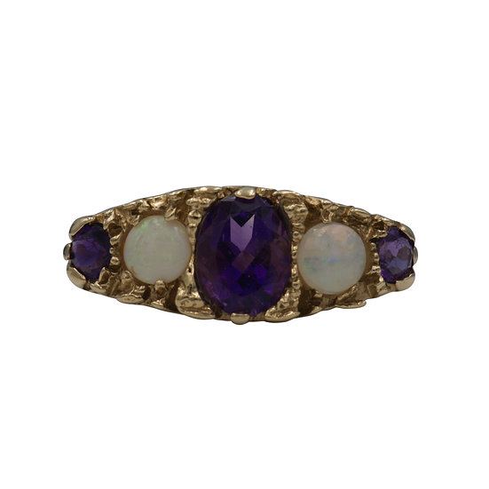 9ct Amethyst & Opal Ring - SOLD