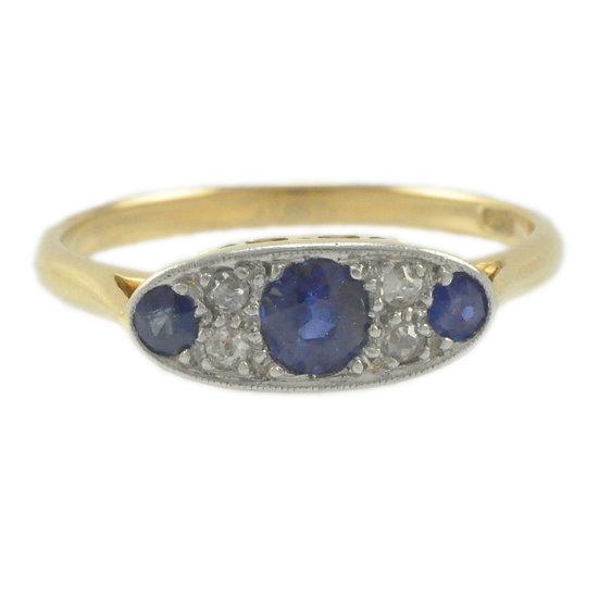 18ct Sapphire & Diamond - SOLD