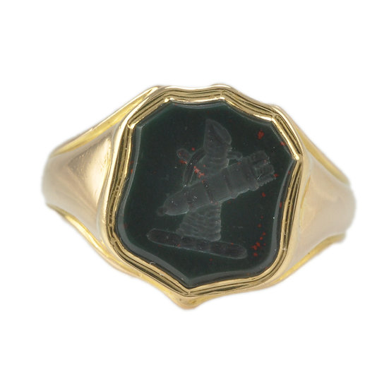 18ct Gold Bloodstone signet ring