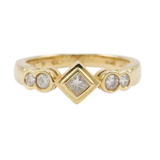 18ct All Yellow Diamond Ring