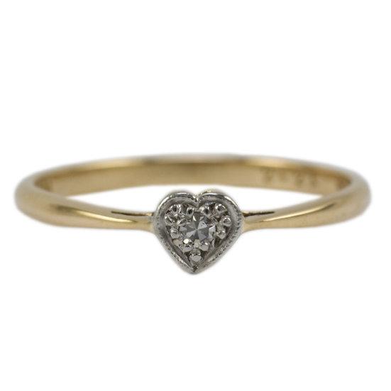 Diamond Set Heart Ring - SOLD