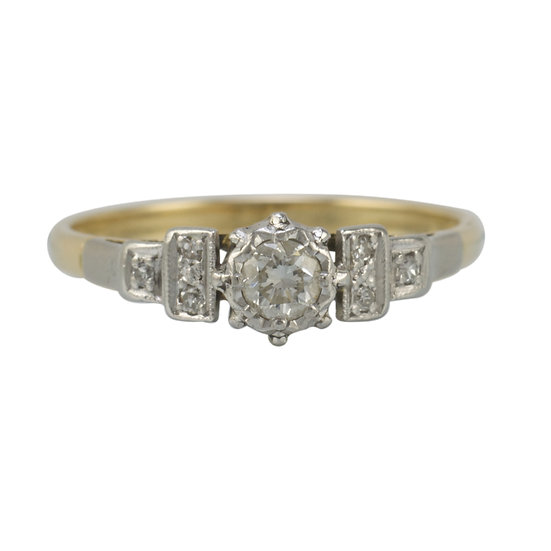 Vintage 18ct & Platinum Engagement Ring - SOLD