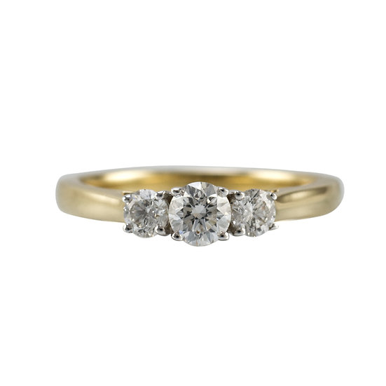 0.60ct Three Stone Diamond Ring