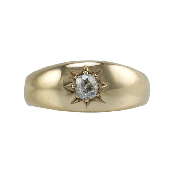 9ct Gentlemans Gypsy Ring - SOLD