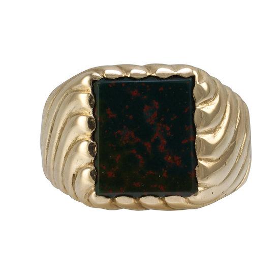 9ct Vintage Bloodstone Signet Ring - SOLD