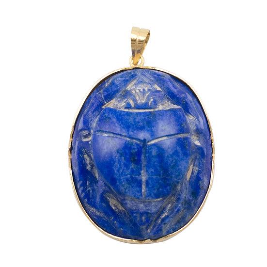Lapis Lazuli Scarab Pendant