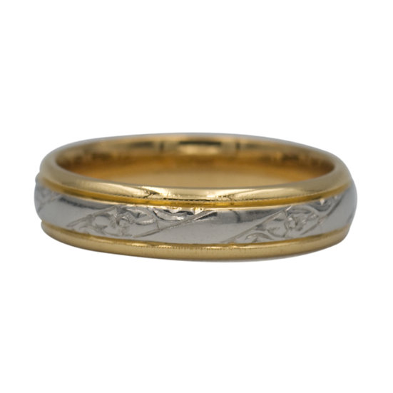 22ct Two-tone Preowned Wedding Ring