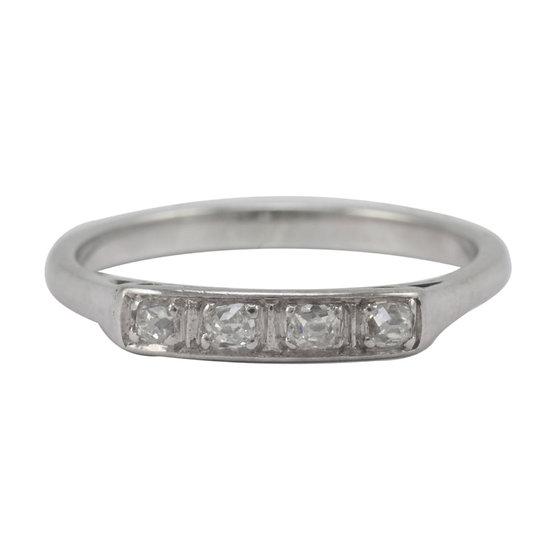 Vintage Four Stone White Gold Diamond Ring - SOLD