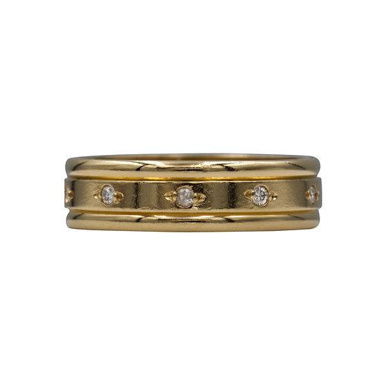 18ct Diamond Set Band Ring