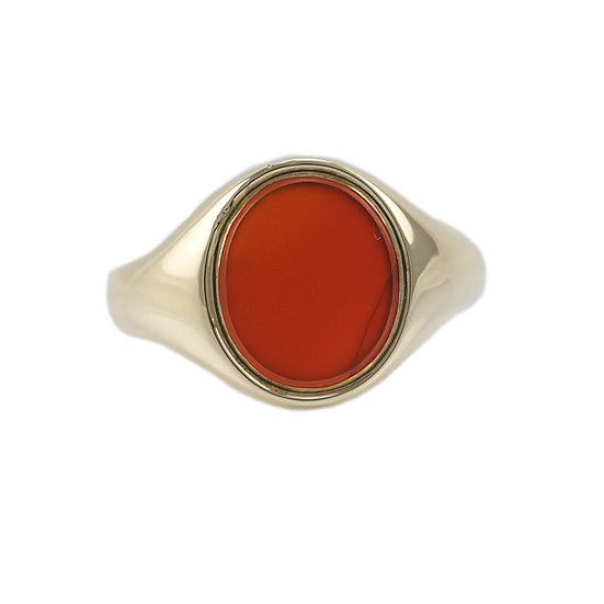 9ct Cornelian signet ring - SOLD