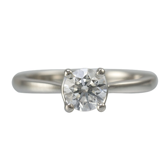 Diamond Solitaire Engagement Ring - SOLD