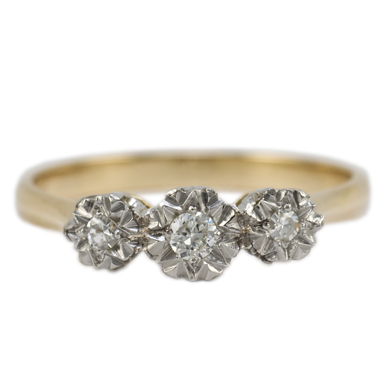 18ct Illusions Set Diamond Ring