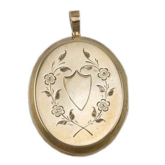 Silver-guilt Locket Circa 1880s - SOLD