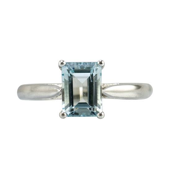 Platinum & Aquamarine Ring - SOLD