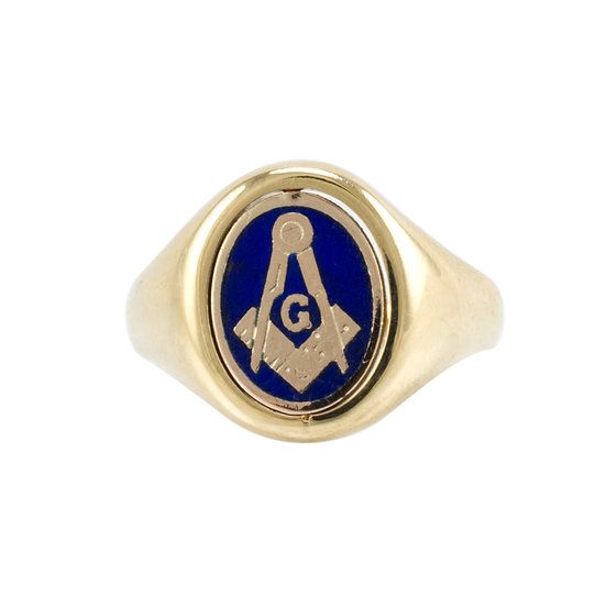 9ct Masonic Swivel Signet - SOLD