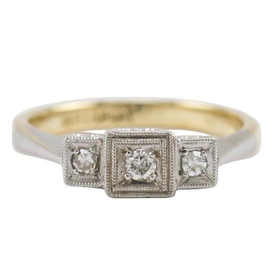 Three Stone Vintage Ring - SOLD
