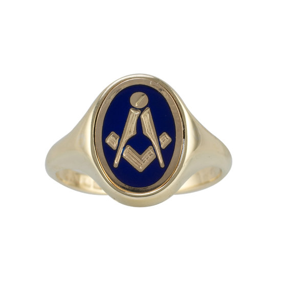 9ct Masonic Swivel Ring - SOLD
