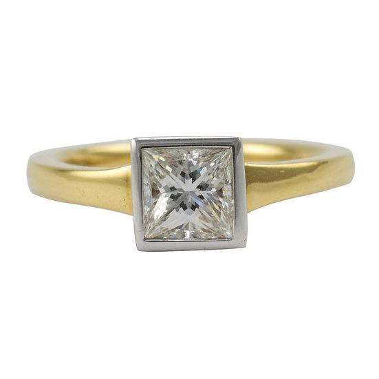 1.01ct Princess Cut Diamond Engagement Ring