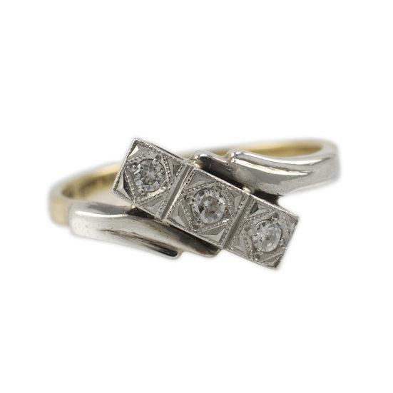 18ct & Platinum Diamond Ring - SOLD