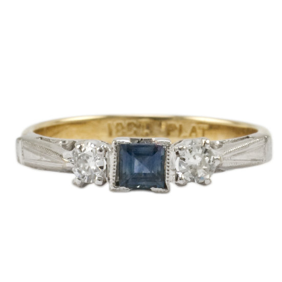 Vintage 18ct & Platinum Ring - SOLD