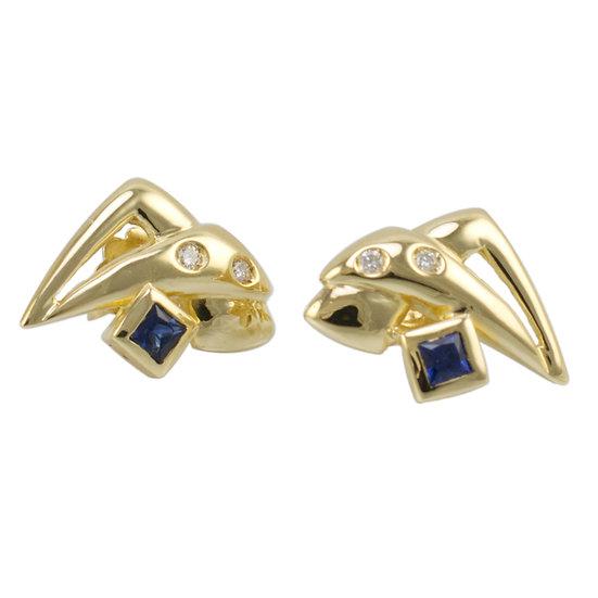 18ct Sapphire & Diamond Earrings
