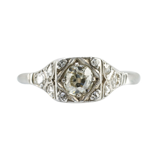 18ct White Gold Diamond Engagement Ring - SOLD
