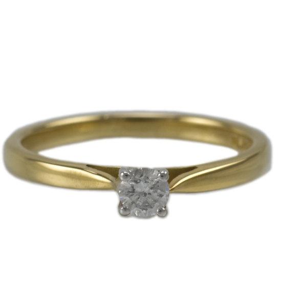 18ct & Platinum Diamond Solitaire