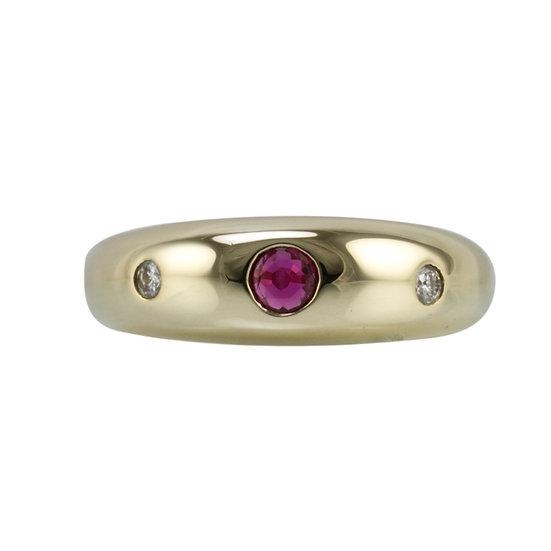 Ruby & Diamond Gypsy Ring