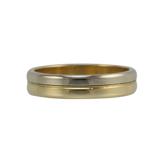 18ct Two Colour Wedding Band - SOLD