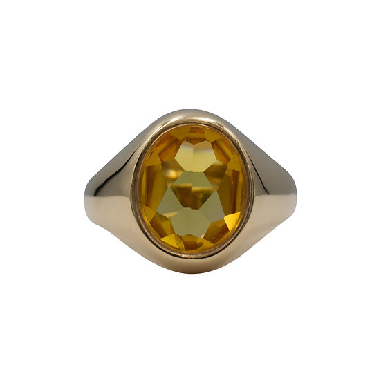 9ct Citrine Set Signet Ring