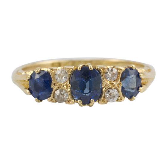 18ct Sapphire and Diamond Chester 1904 - SOLD