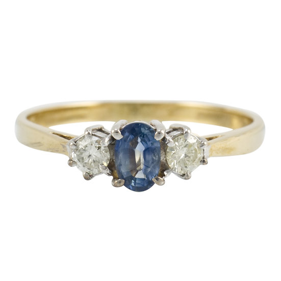 18ct Preowned Sapphire & Diamond Ring - SOLD