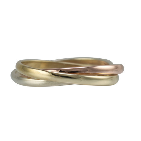9ct Three Colour Russian Wedding Ring - SOLD
