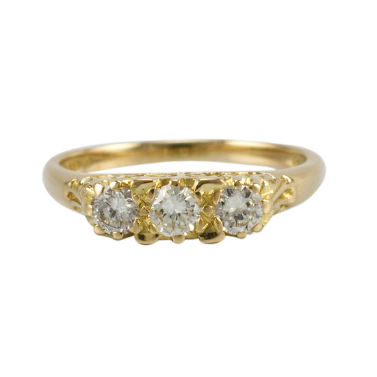 Vintage 18ct Diamond Three Stone Ring