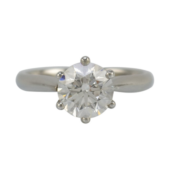 1.50ct Diamond & Platinum Engagement Ring
