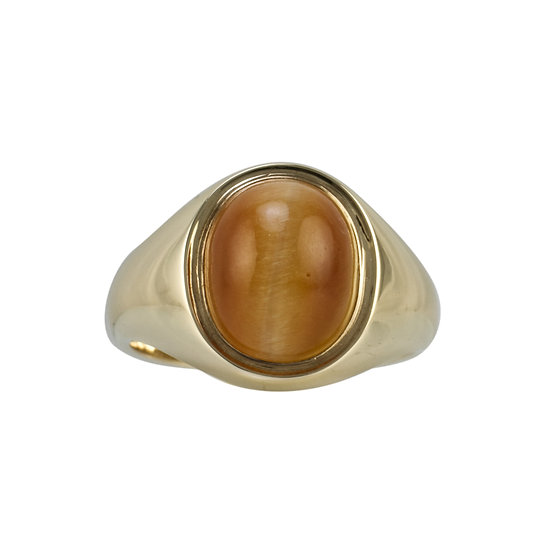 9ct Gold Tiger's Eye Set Signet Ring