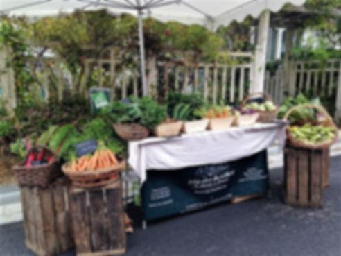 Notre stand sur le marché de Ploüer-sur-Rance