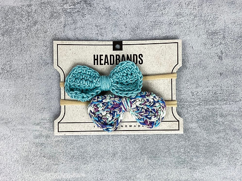 Crocheted Bow Headbands